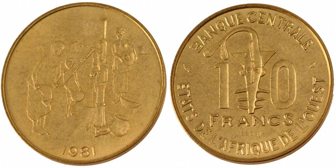 10 Francs 1981 (a) West African States MS(65-70)