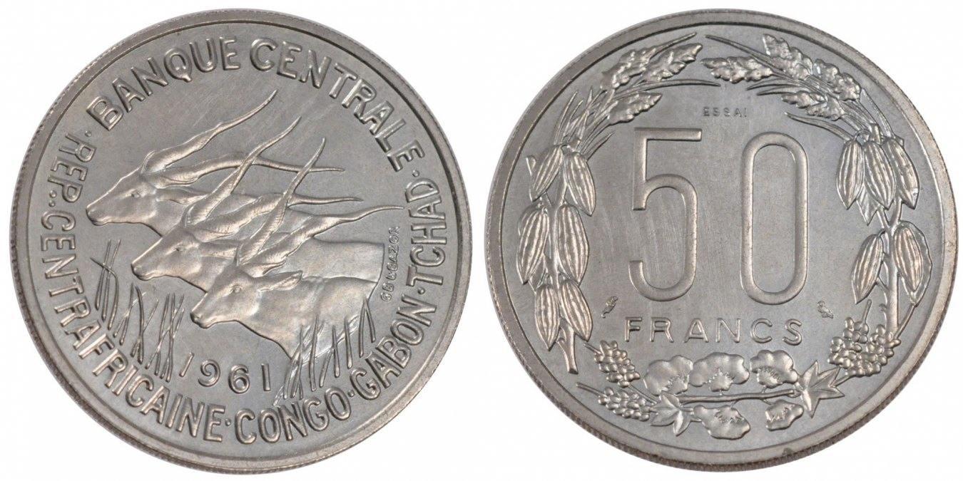 50 Francs 1961 (a) Äquatorial Afrikanische Staaten MS(65-70)