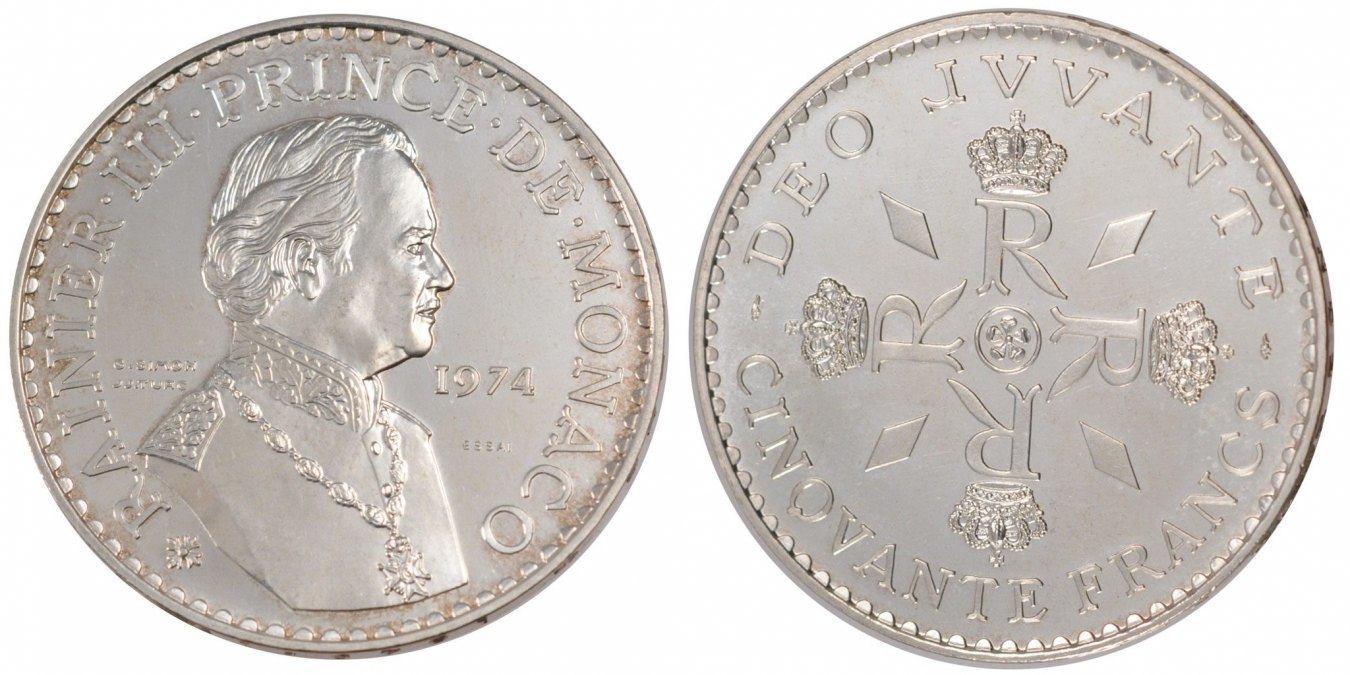 50 Francs 1974 Monaco MS(65-70)