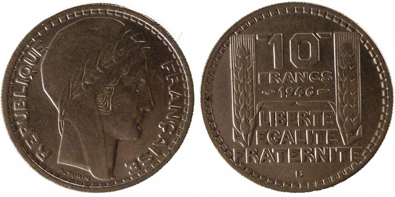 10 Francs 1946 B Frankreich Turin AU(50-53)