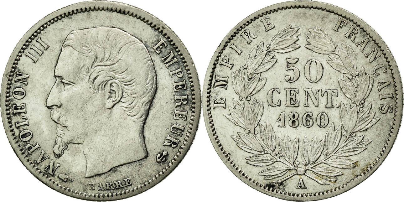 50 Centimes 1860 A Frankreich Napoléon III Napoleon III EF(40-45)