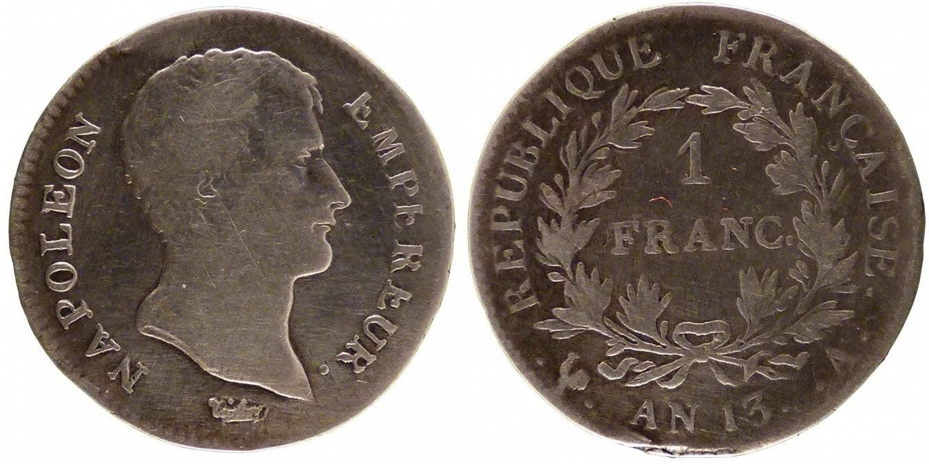 Franc 1805 A Frankreich Napoléon I VF(20-25)