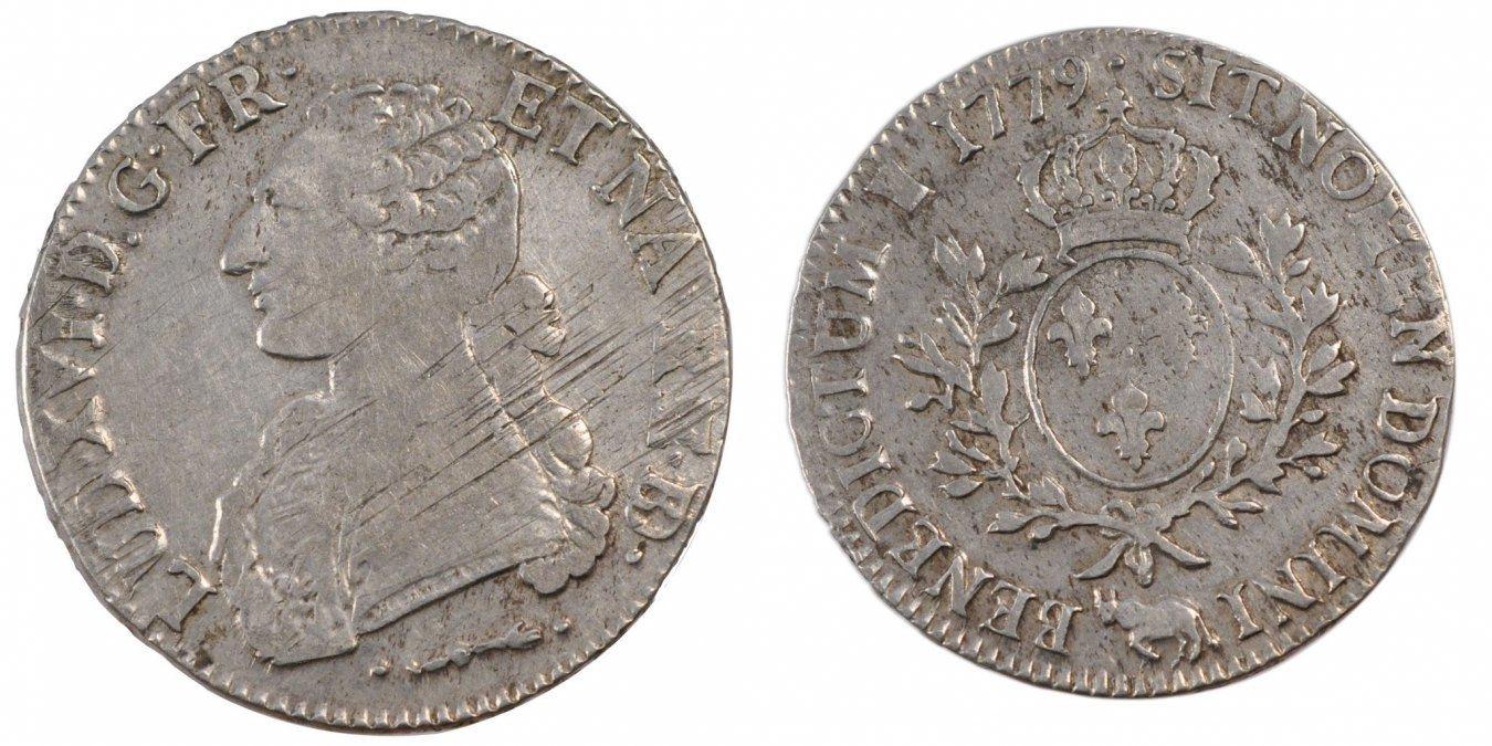 Ecu 1779 Pau Frankreich Écu de Béarn aux branches d'olivier Louis XVI 1774-1791 Louis XVI EF(40-45)