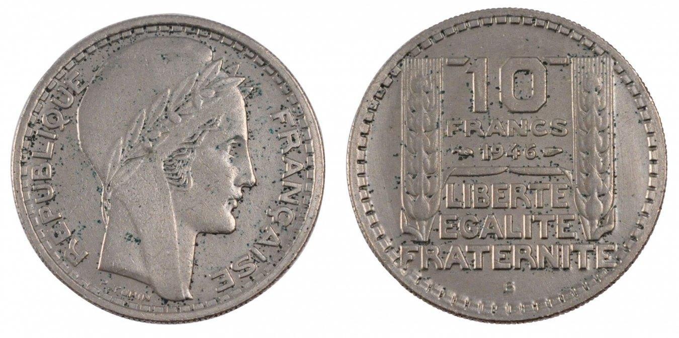 10 Francs 1946 B Frankreich Turin EF(40-45)