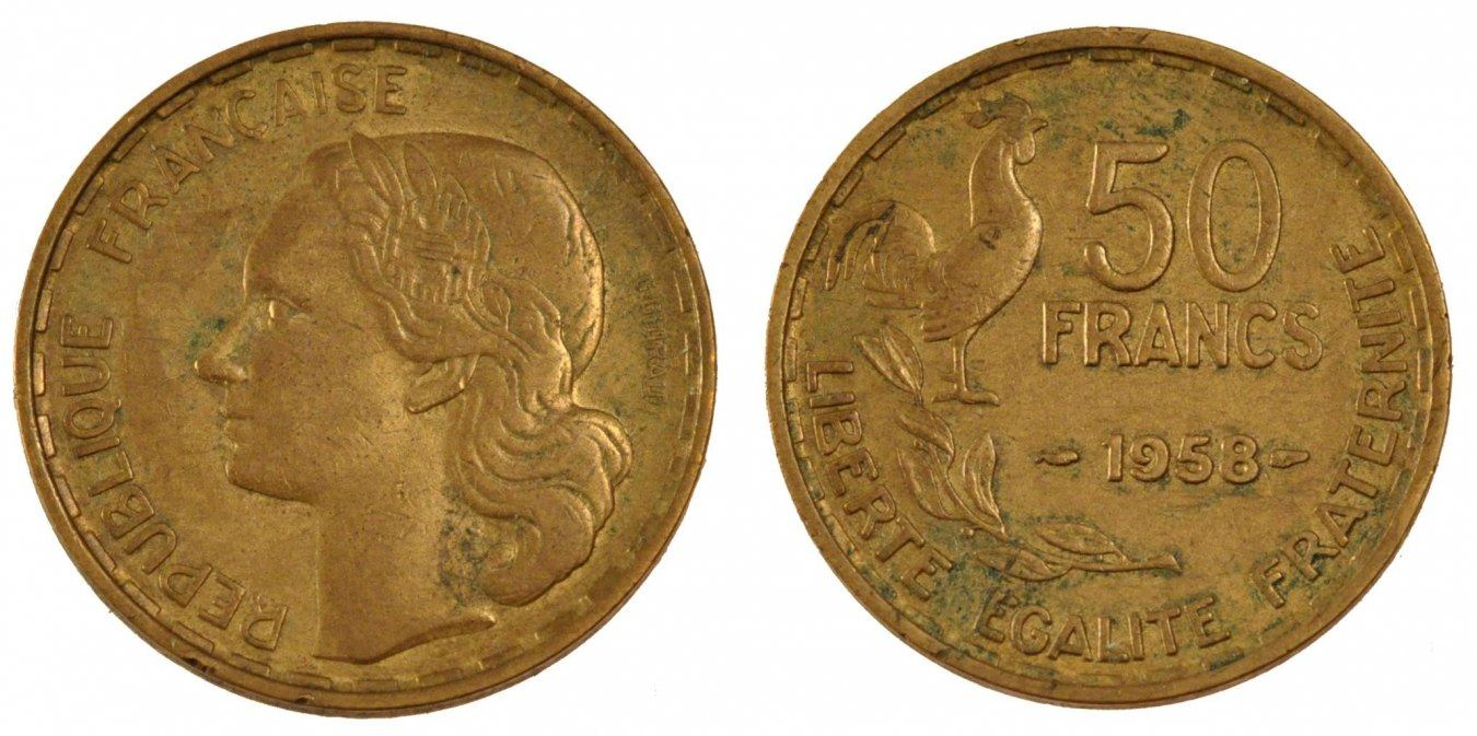 50 Francs 1958 Paris Frankreich Guiraud EF(40-45)