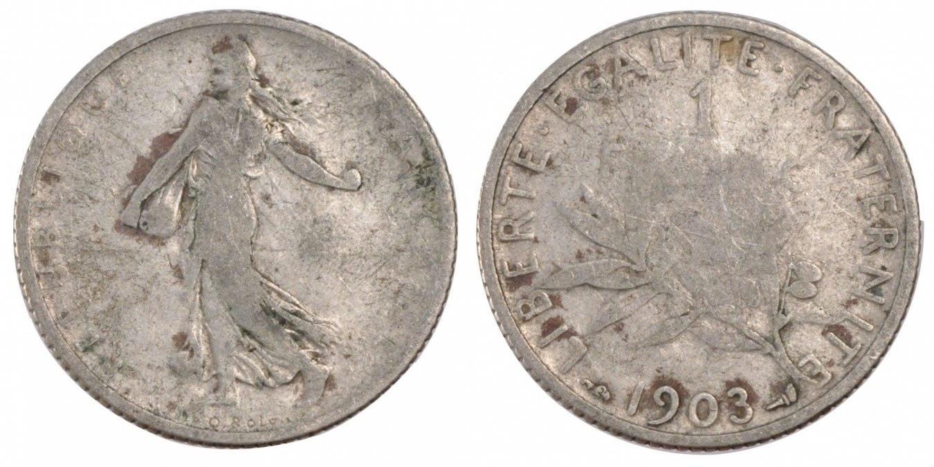 Franc 1903 Frankreich Semeuse F(12-15)