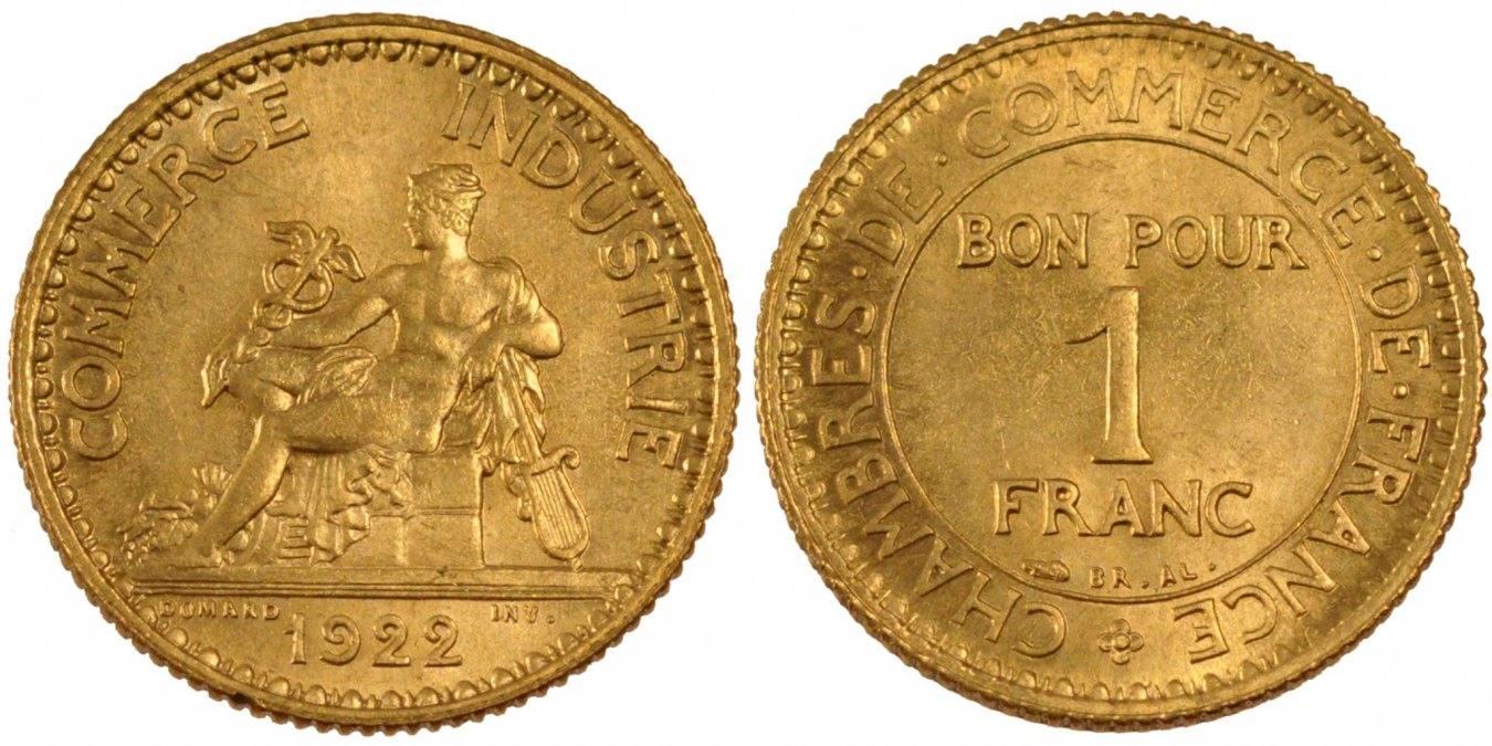 Franc 1922 Frankreich Chambre De Commerce Ms 60 62 Ma Shops