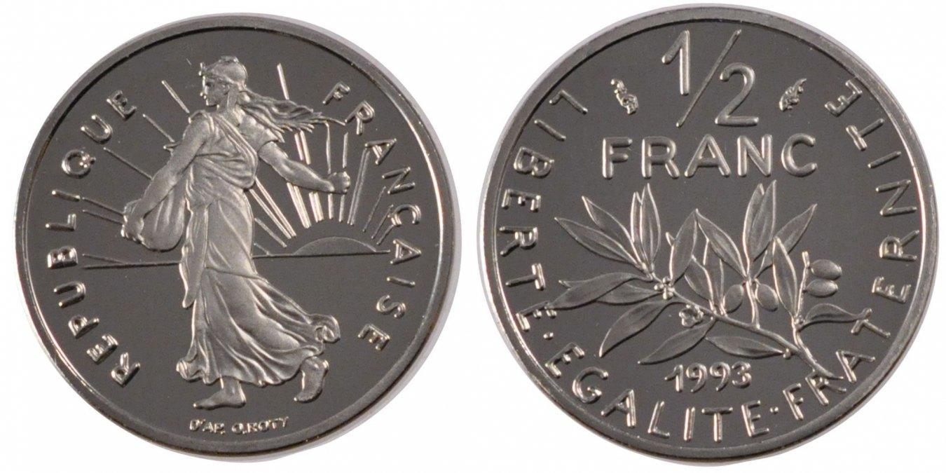 1/2 Franc 1993 Frankreich Semeuse MS(65-70)