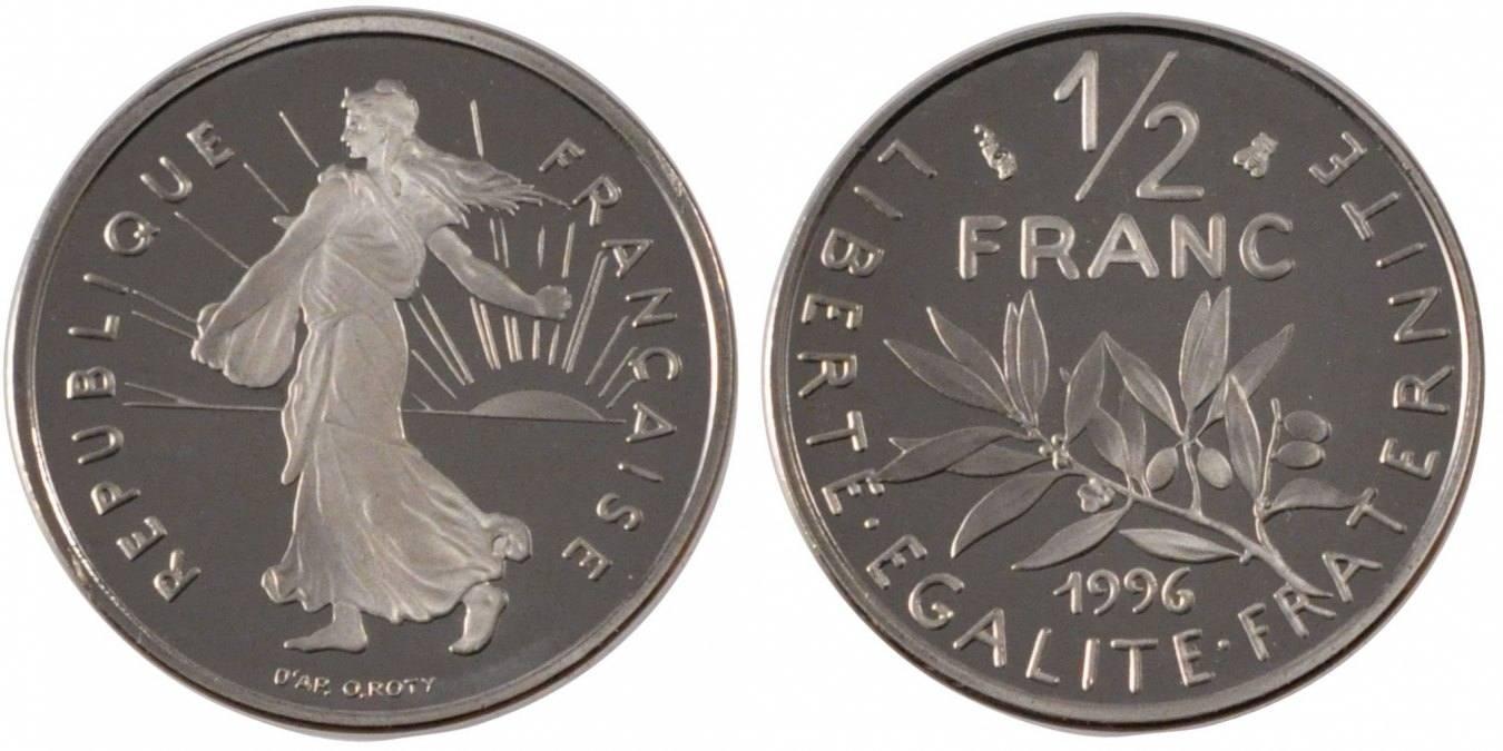 1/2 Franc 1996 Paris Frankreich Semeuse MS(65-70)
