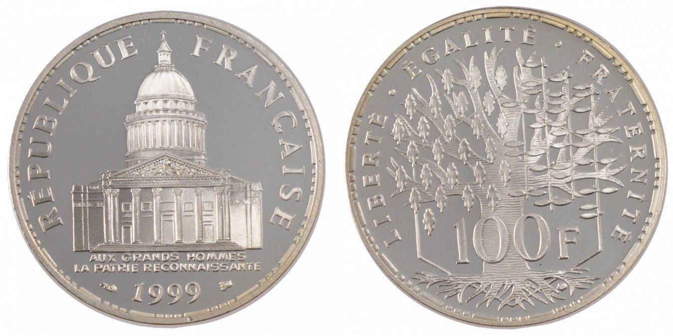 100 Francs 1999 Paris Frankreich Panthéon MS(65-70)