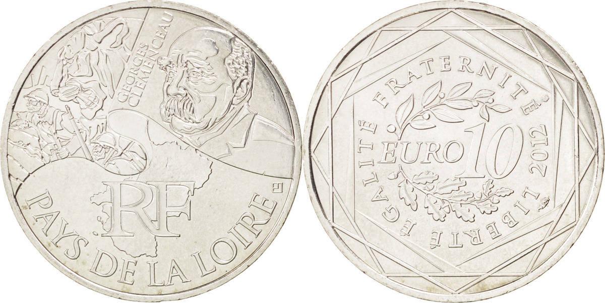 10 Euro 2012 (a) Frankreich Pays de la Loire MS(60-62)