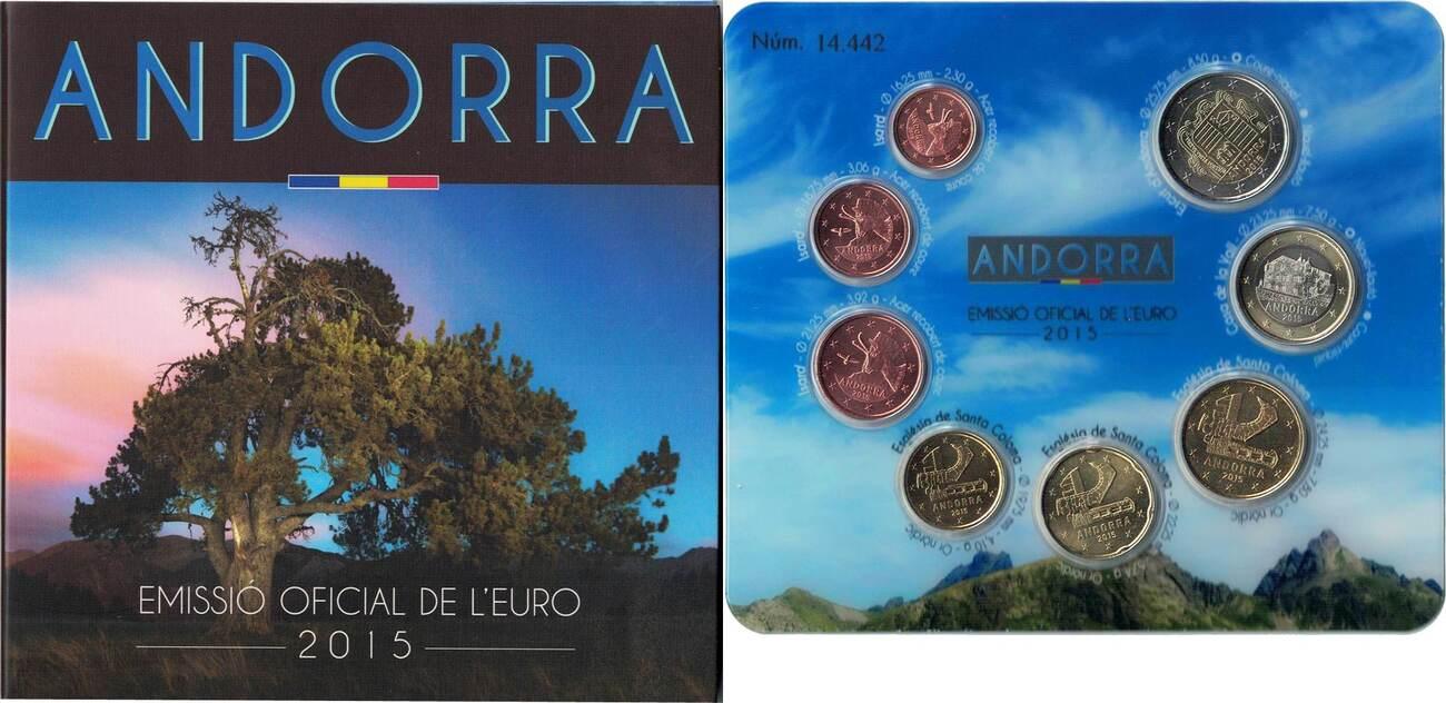 1 Cent to 2 Euro 2015 Andorra Euro-Set, STGL STGL