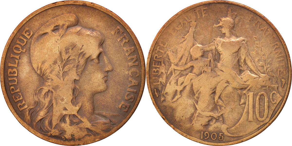 10 Centimes 1905 Paris Frankreich Dupuis VF(20-25)