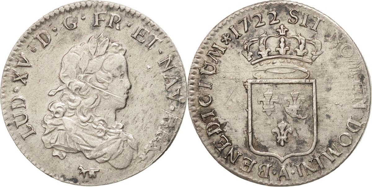 1/3 Ecu 1722 A Frankreich 1/3 Écu de France Louis XV EF(40-45)