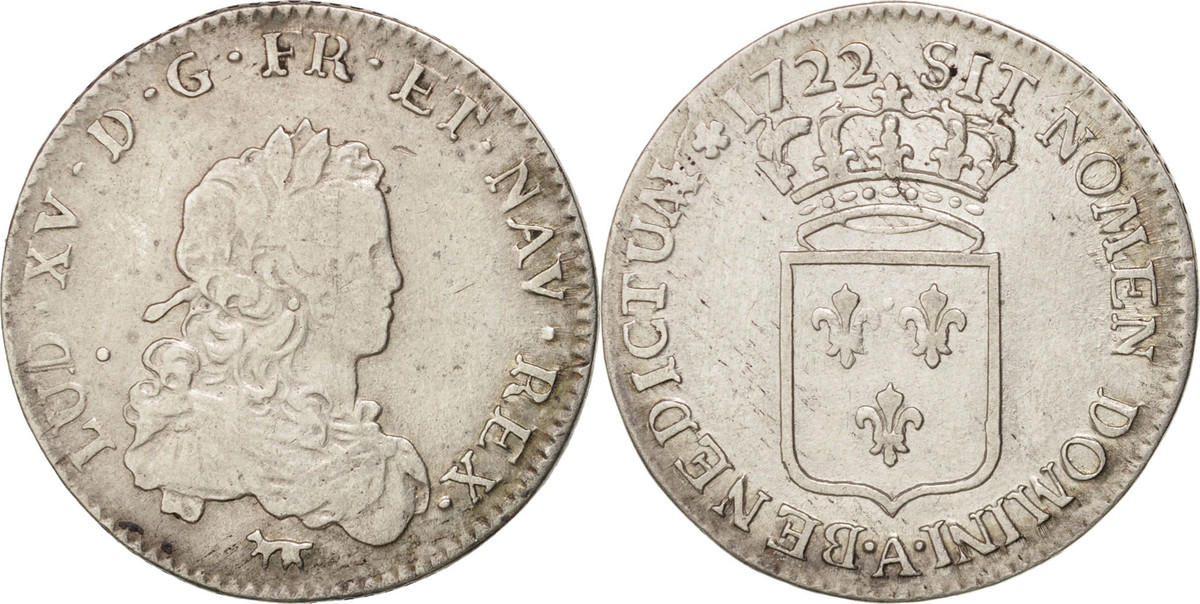1/3 Ecu 1722 A Frankreich 1/3 Écu de France Louis XV VF(30-35)