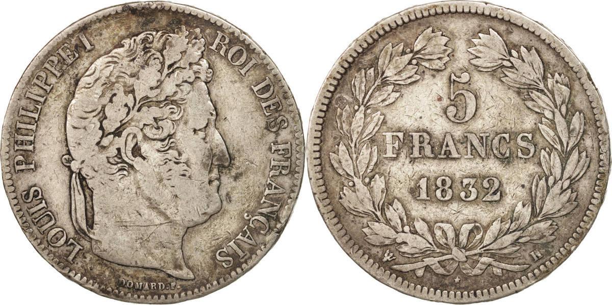 5 Francs 1832 H Frankreich Louis-Philippe F(12-15)