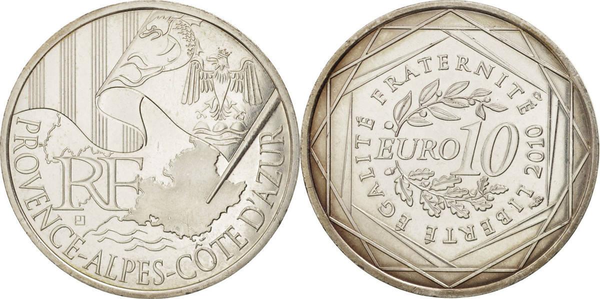 10 Euro 2010 Paris Frankreich Provence - Alpes - Cote d'Azur MS(60-62)