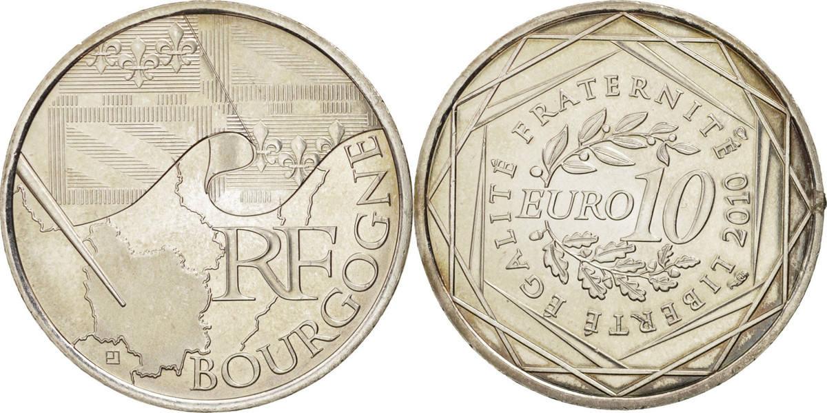 10 Euro 2010 Paris Frankreich Burgundy MS(60-62)