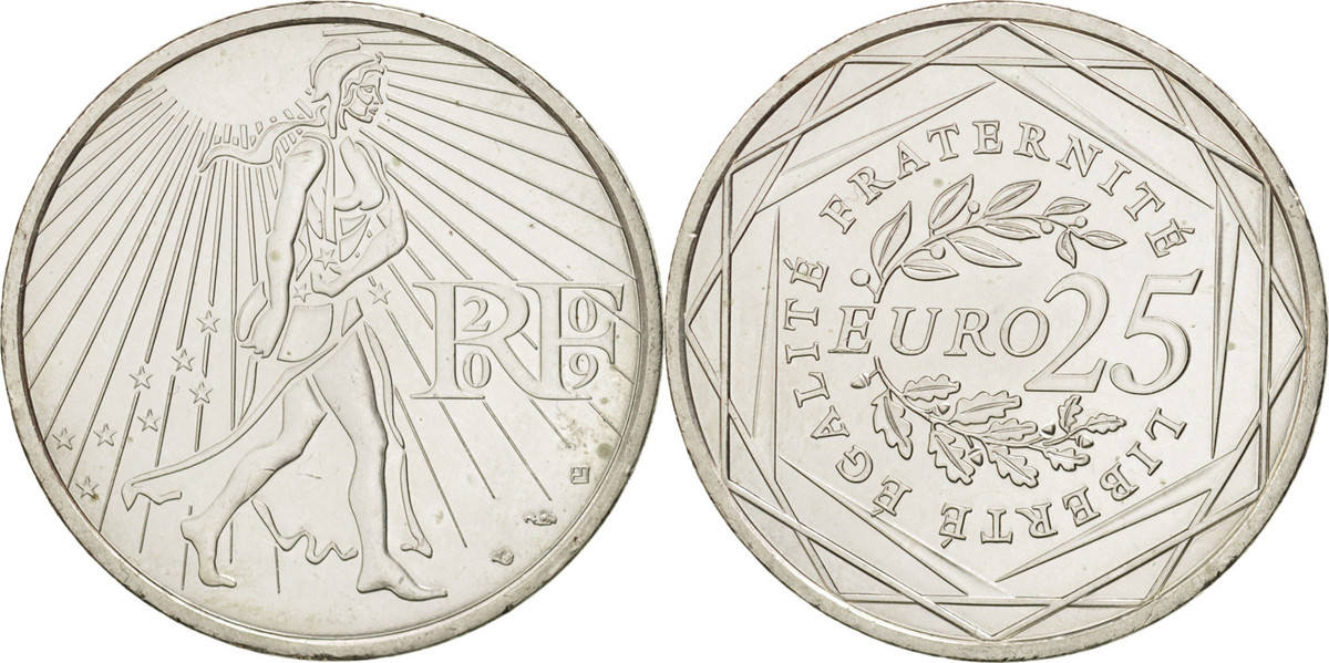 25 Euro 2009 P Frankreich MS(60-62)