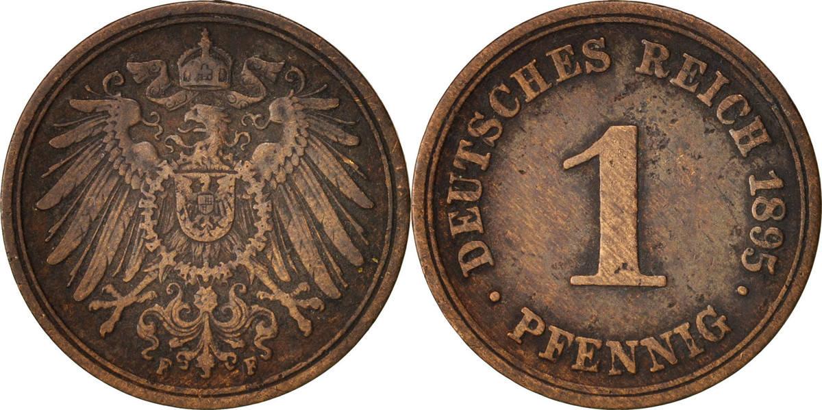 Pfennig 1895 F GERMANY - EMPIRE Wilhelm II EF(40-45)