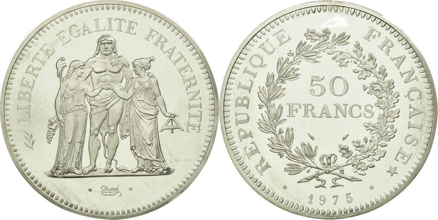 50 Francs 1975 Frankreich STGL, Silber, KM:P536, Gadoury:223.P1 STGL