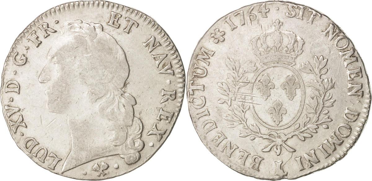 Ecu 1764 L Frankreich Louis XV, Écu au bandeau, Bayonne, S, Silber, KM:512.12 S