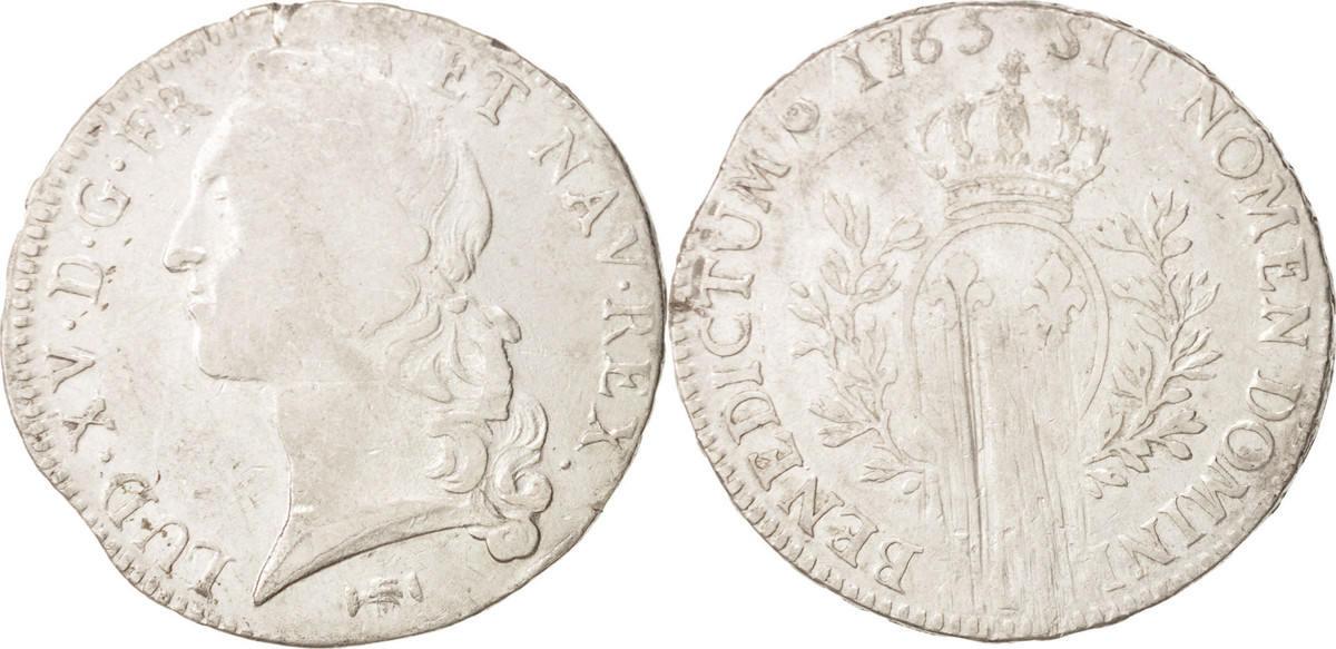 Ecu 1765 K Frankreich Louis XV, Écu au bandeau, Bordeaux, SGE+, Silber, KM 512.11 SGE+