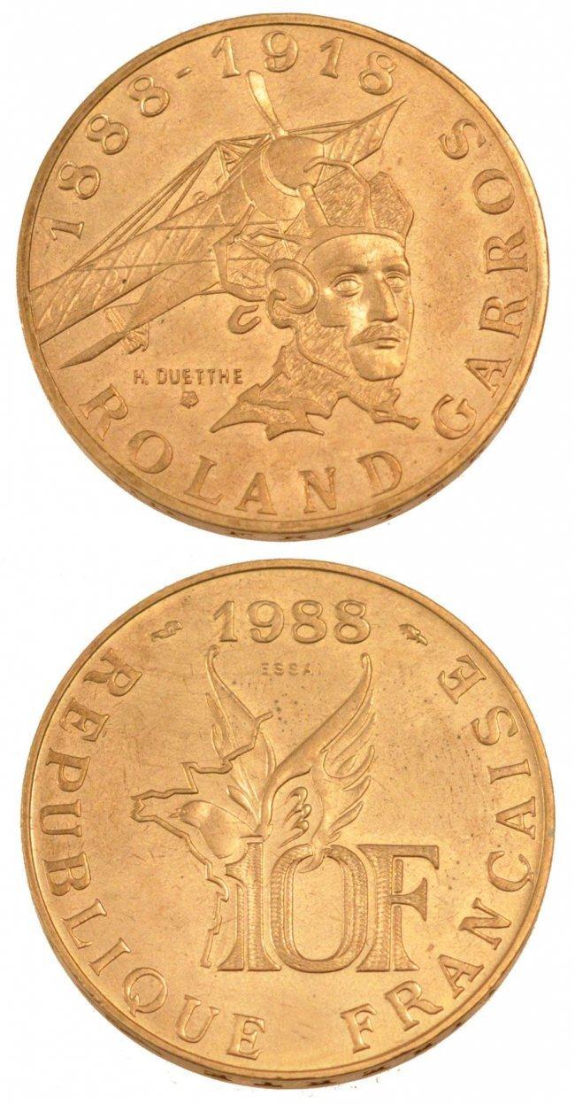 10 Francs 1988 Frankreich FRANCE, KM #E139, Aluminum-Bronze, Gadoury #821,... STGL