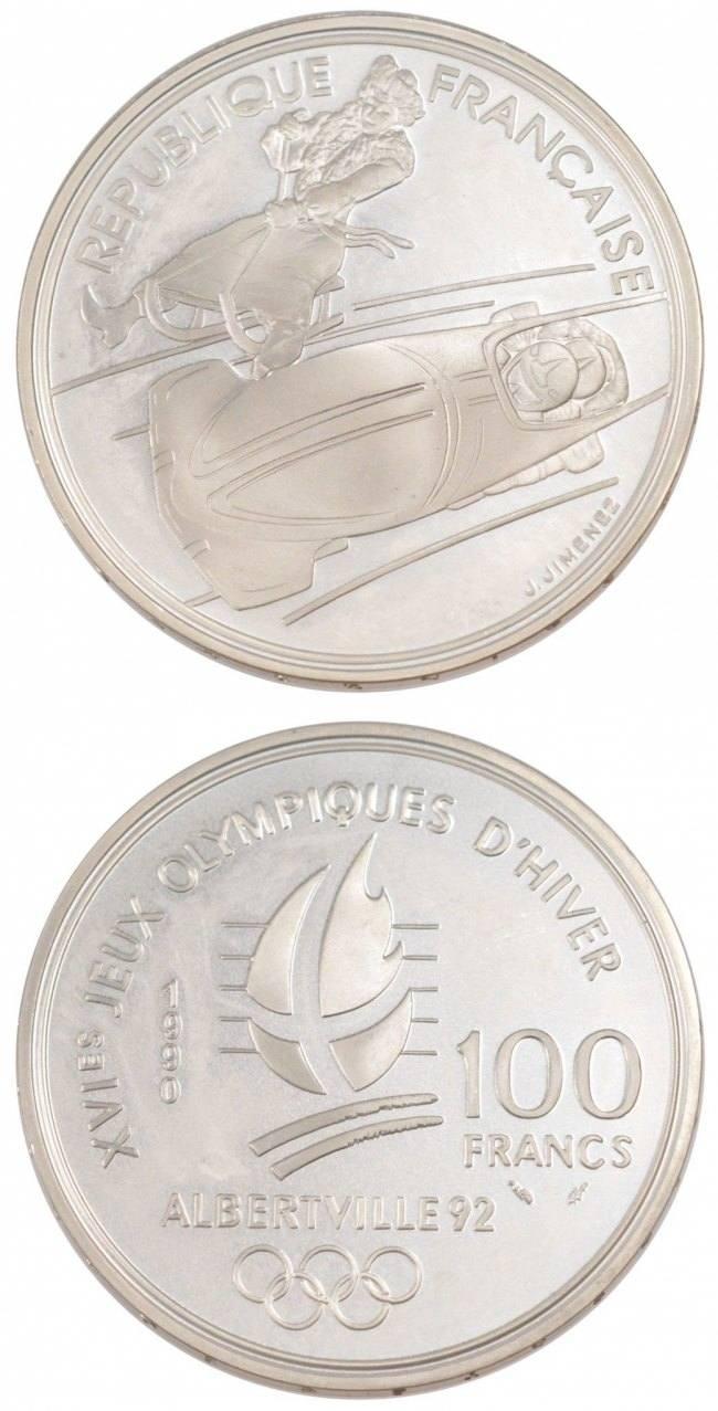 100 Francs 1990 Frankreich FRANCE, KM #981, Silver, Gadoury #911, 22.20 STGL