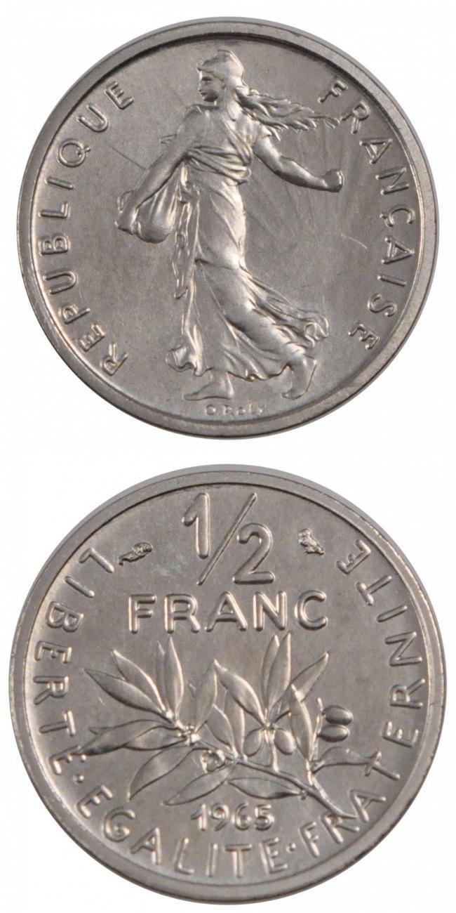 1/2 Franc 1965 Frankreich MS(65-70)