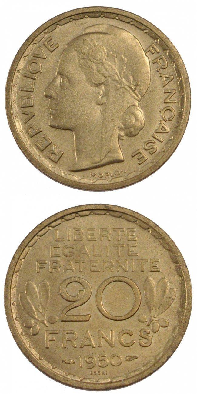 20 Francs 1950 Frankreich MS(65-70)
