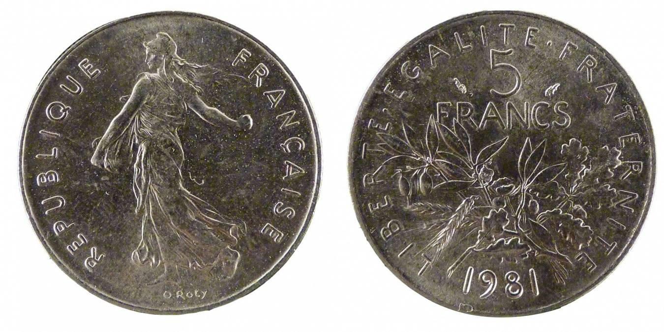 5 Francs 1981 Frankreich Semeuse MS(65-70)