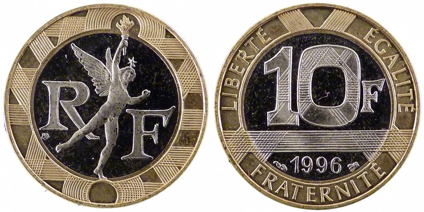 10 Francs 1996 Frankreich Génie MS(65-70)