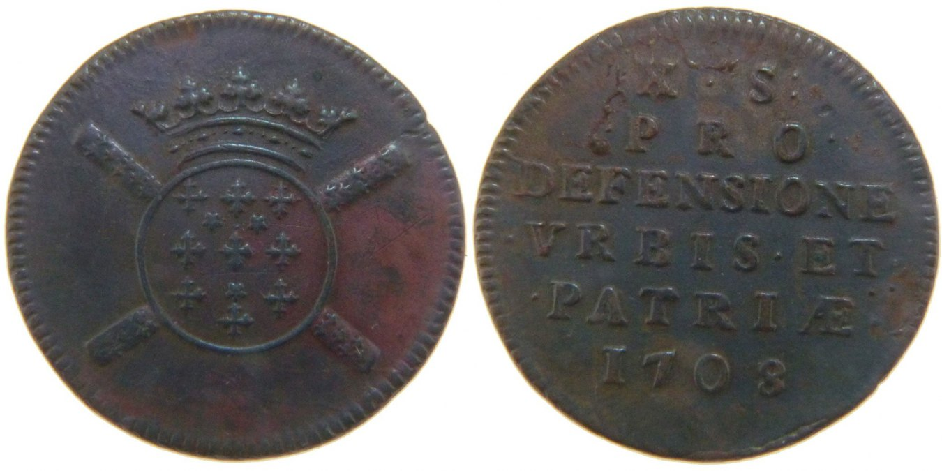 10 Sols 1708 FRENCH STATES AU(50-53)