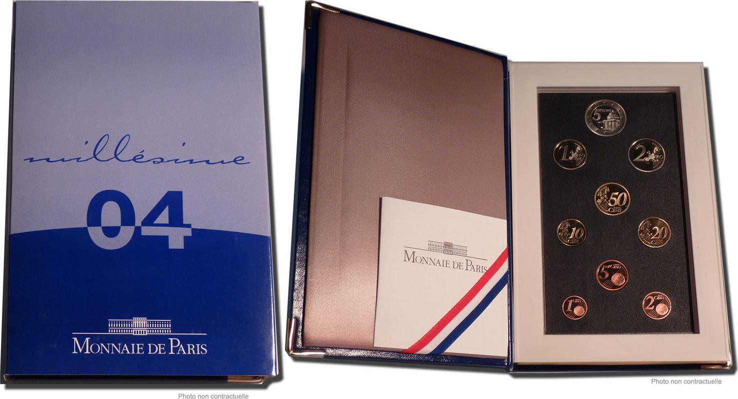 Proof Set Euro 2004 Paris Frankreich MS(65-70)