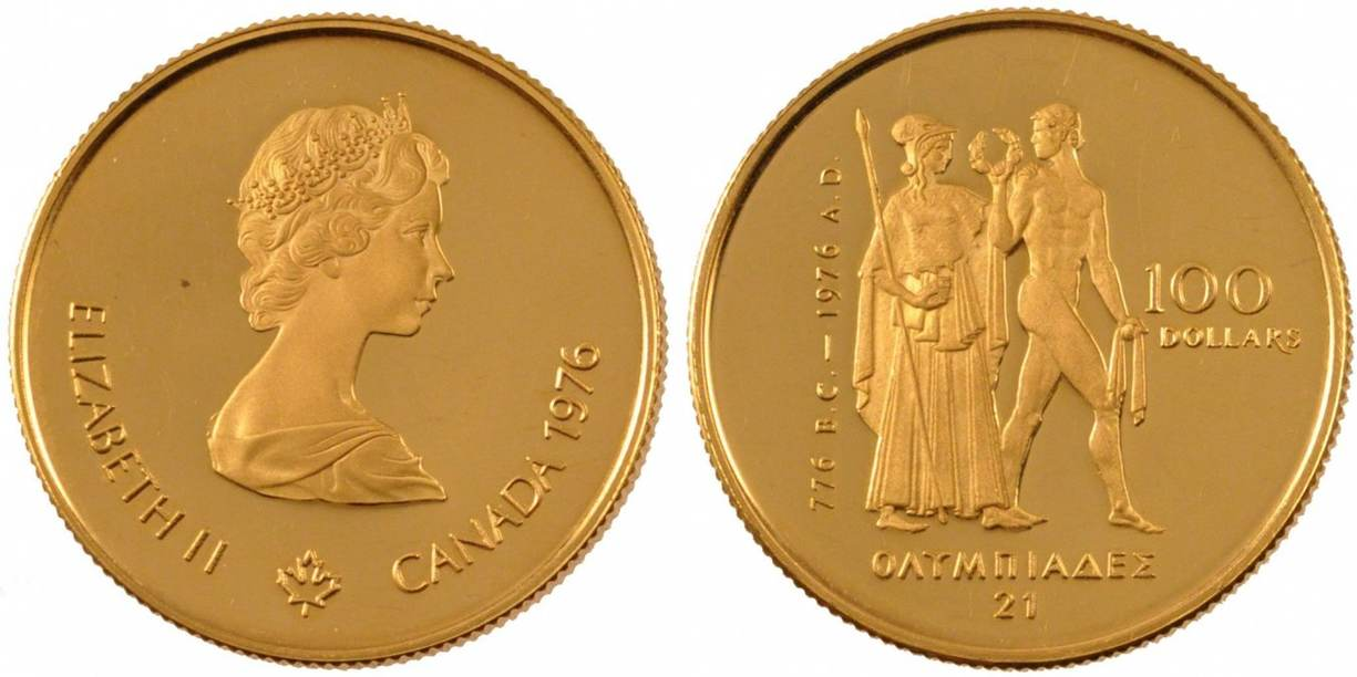100 Dollars 1976 Kanada CANADA, Royal Canadian Mint, KM #116, Gold, 25,... VZ+