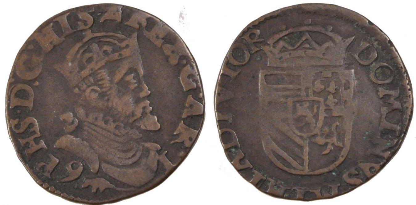 Liard 1591 Arras Frankreich FRANCE, Arras, Copper, Boudeau #1984, 5.00 S+