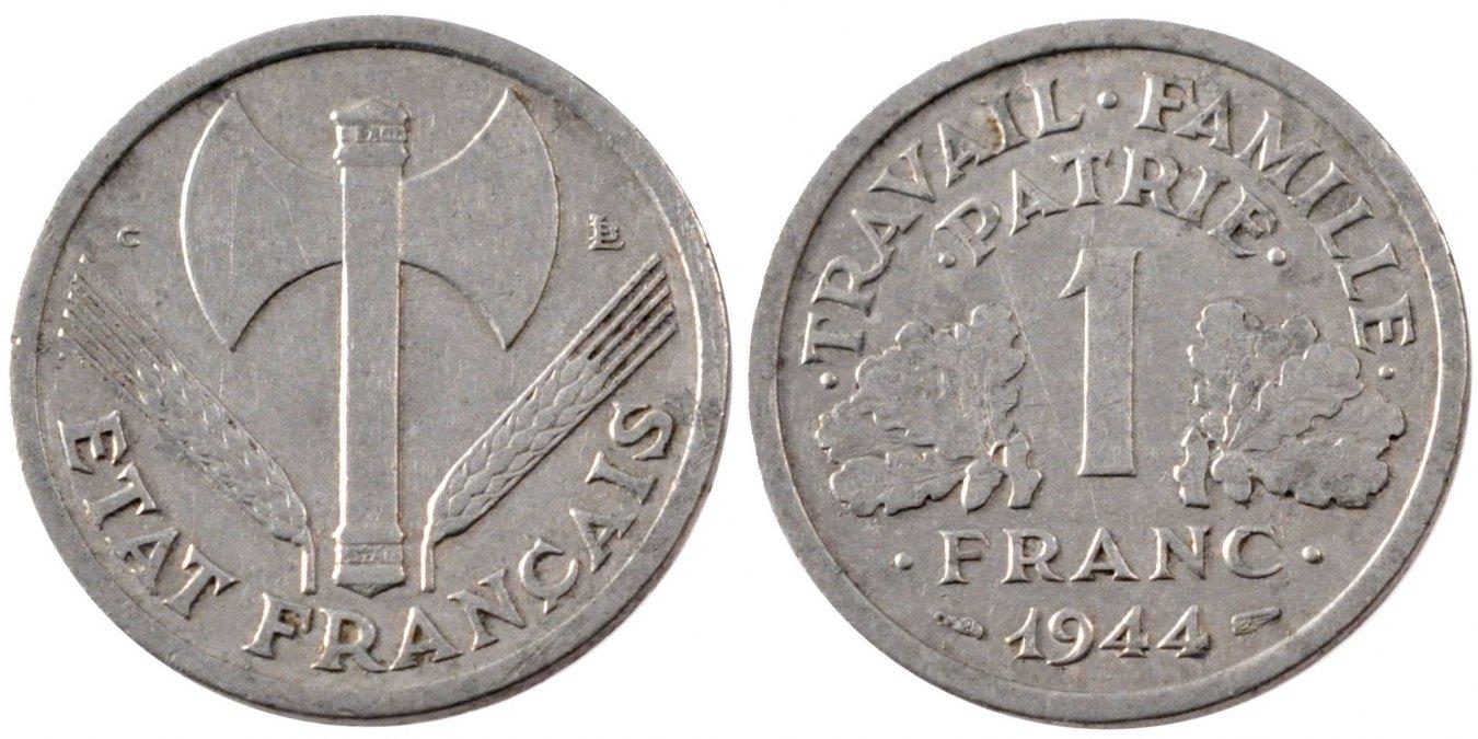 Franc 1944 Rouen Frankreich Bazor EF(40-45)