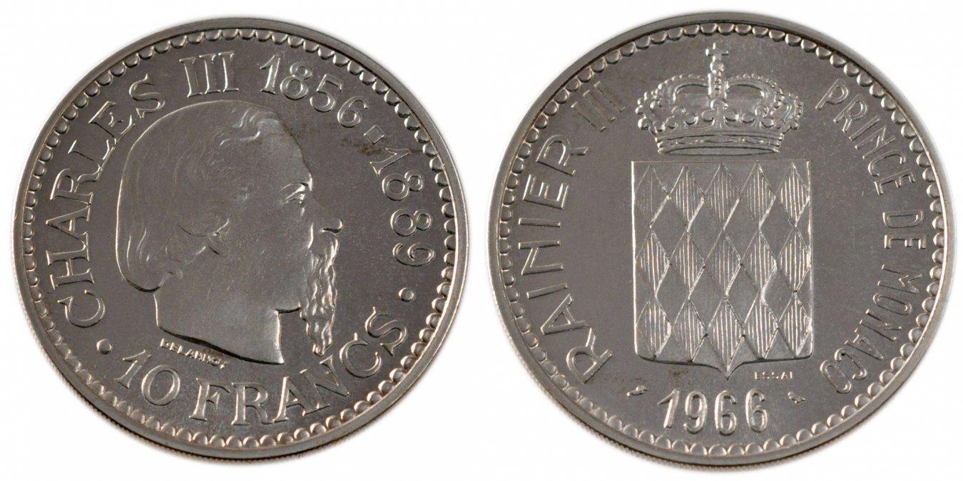 10 Francs 1966 Monaco MS(60-62)