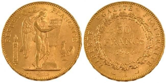 50 Francs 1904 A Frankreich Génie AU(55-58)