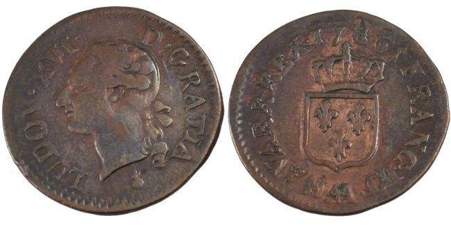 1/2 Sol 1786 AA Frankreich 1/2 Sol ou 1/2 sou Louis XVI 1774-1791 Louis XVI VF(30-35)