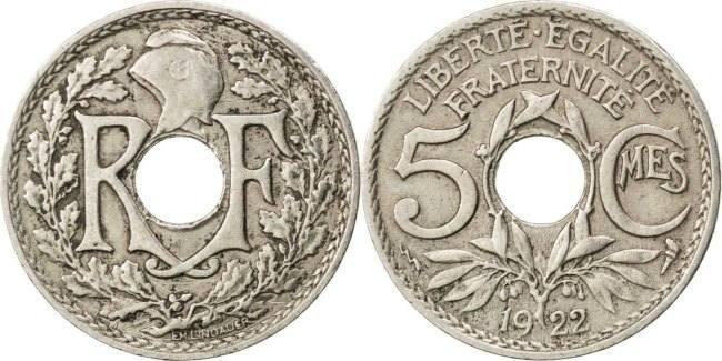 5 Centimes 1922 Poissy Frankreich Lindauer EF(40-45)
