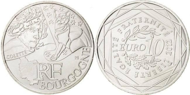 10 Euro 2012 (a) Frankreich Burgundy MS(63)