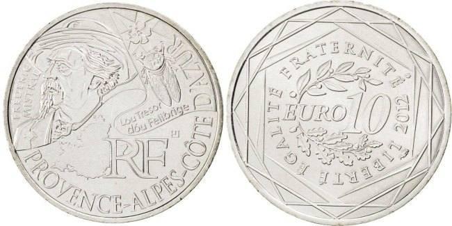 10 Euro 2012 (a) Frankreich Province - Alpes - Cote d'Azur MS(63)