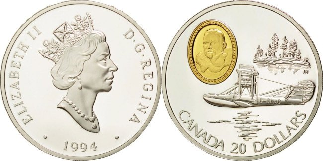 20 Dollars 1994 Royal Canadian Mint Kanada Münze Elizabeth Ii