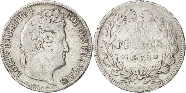 5 Francs 1831 M Frankreich Louis-Philippe F(12-15)