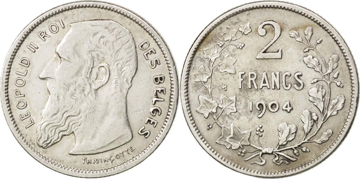 2 Francs, 2 Frank 1904 Belgien EF(40-45)