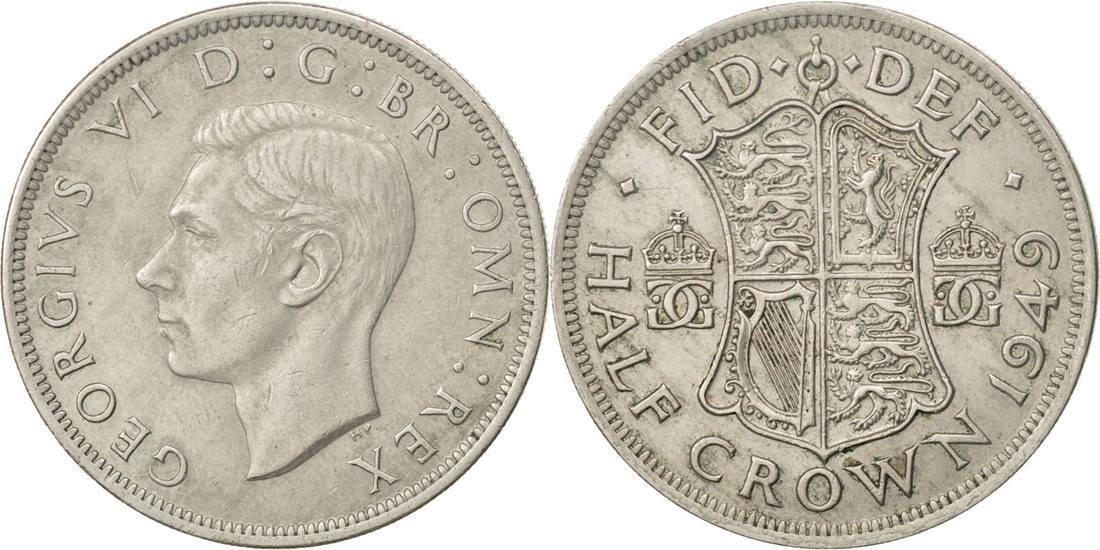 1/2 Crown 1949 Großbritannien George VI AU(55-58)