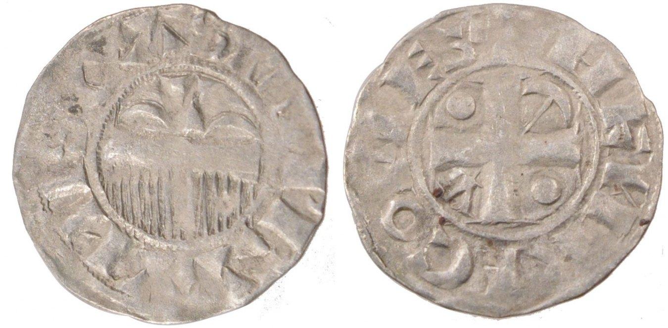 Denarius Provins Frankreich FRANCE, Provins, Silver, 1.05 SS