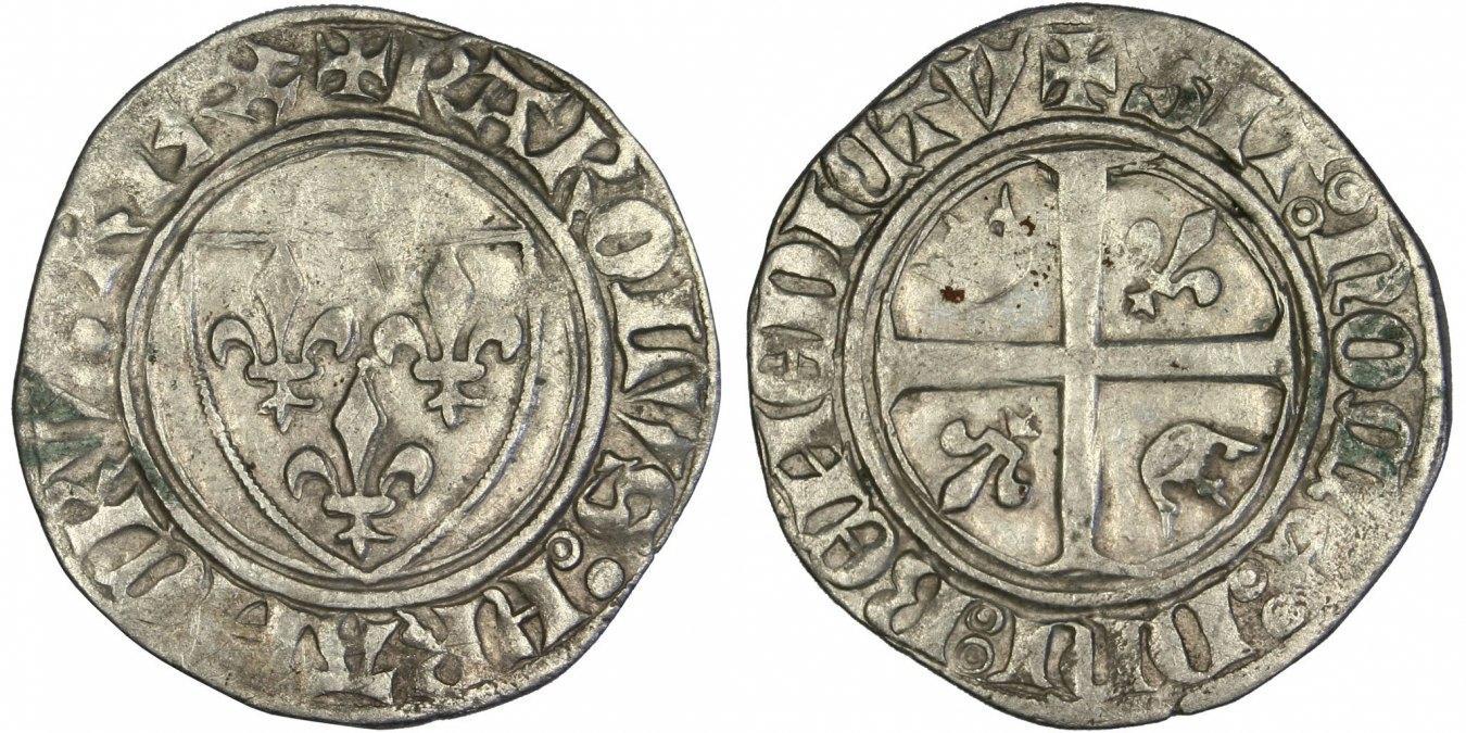 Blanc Not Applic Frankreich 1380-1422 Charles VI le Fol EF(40-45)